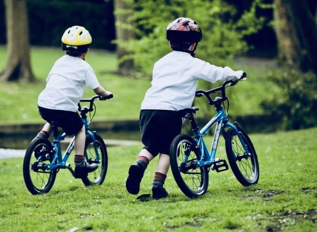 las bicicletas de los niños